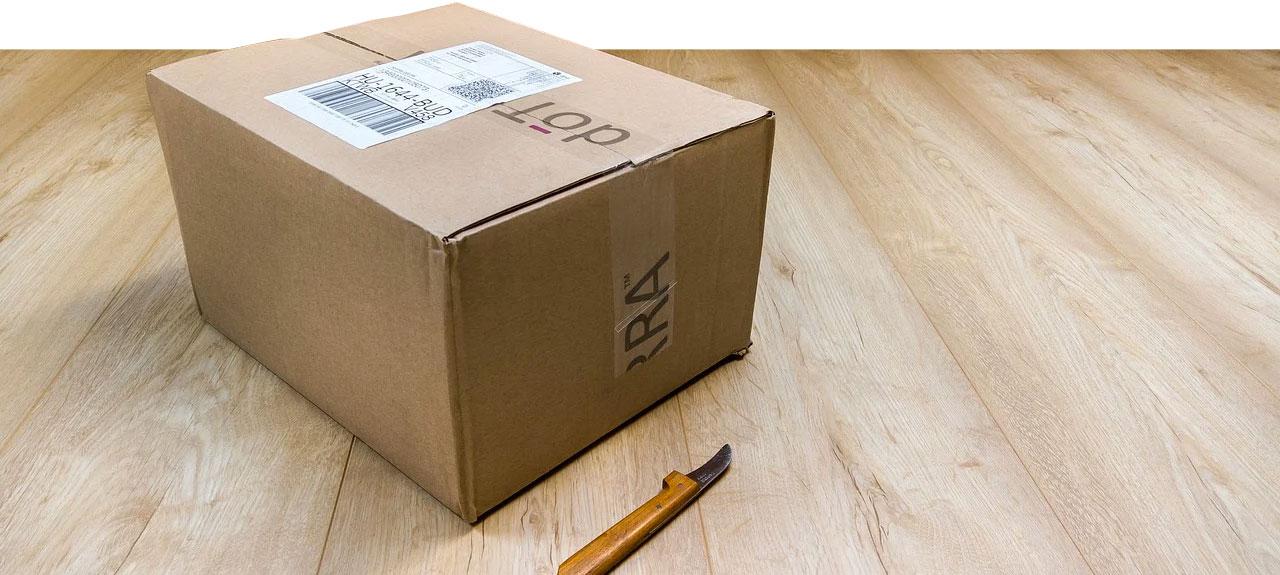 Paketlieferung nach Online Shopping